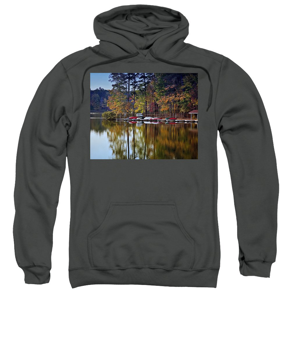 Lake Sweatshirt featuring the photograph Canoe Lake by Gary Adkins