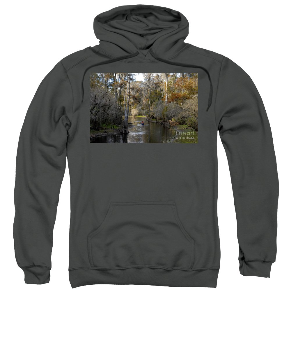 Family Sweatshirt featuring the photograph Canoeing In Florida by David Lee Thompson