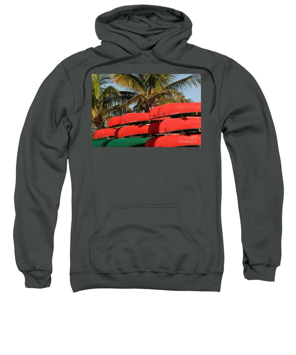 Flamingo Florida Sweatshirt featuring the photograph Canoe's At Flamingo by David Lee Thompson
