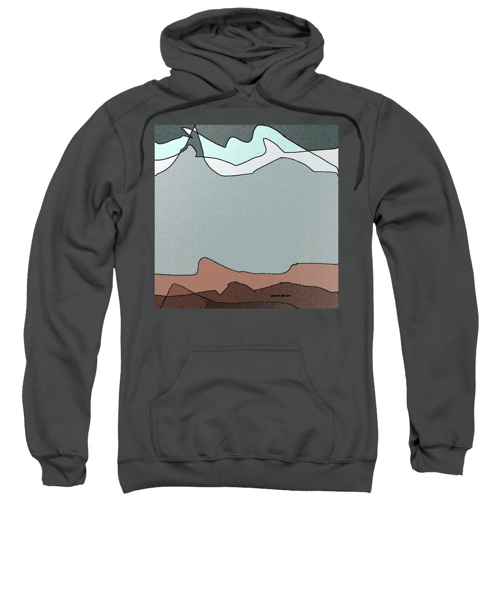 Minimal Sweatshirt featuring the painting Canyon Land by Lenore Senior