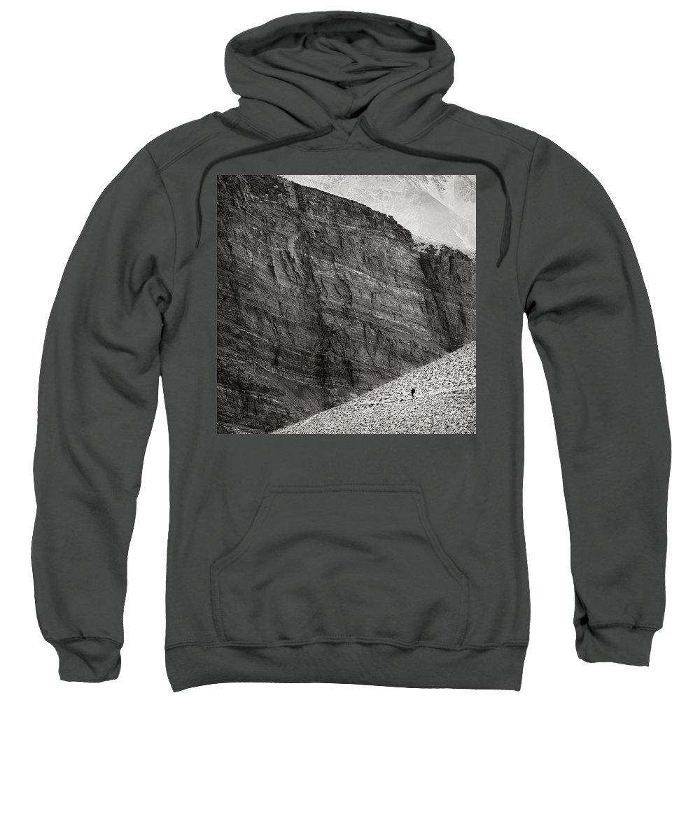 Alone Sweatshirt featuring the photograph Canyon Nishgar by Konstantin Dikovsky