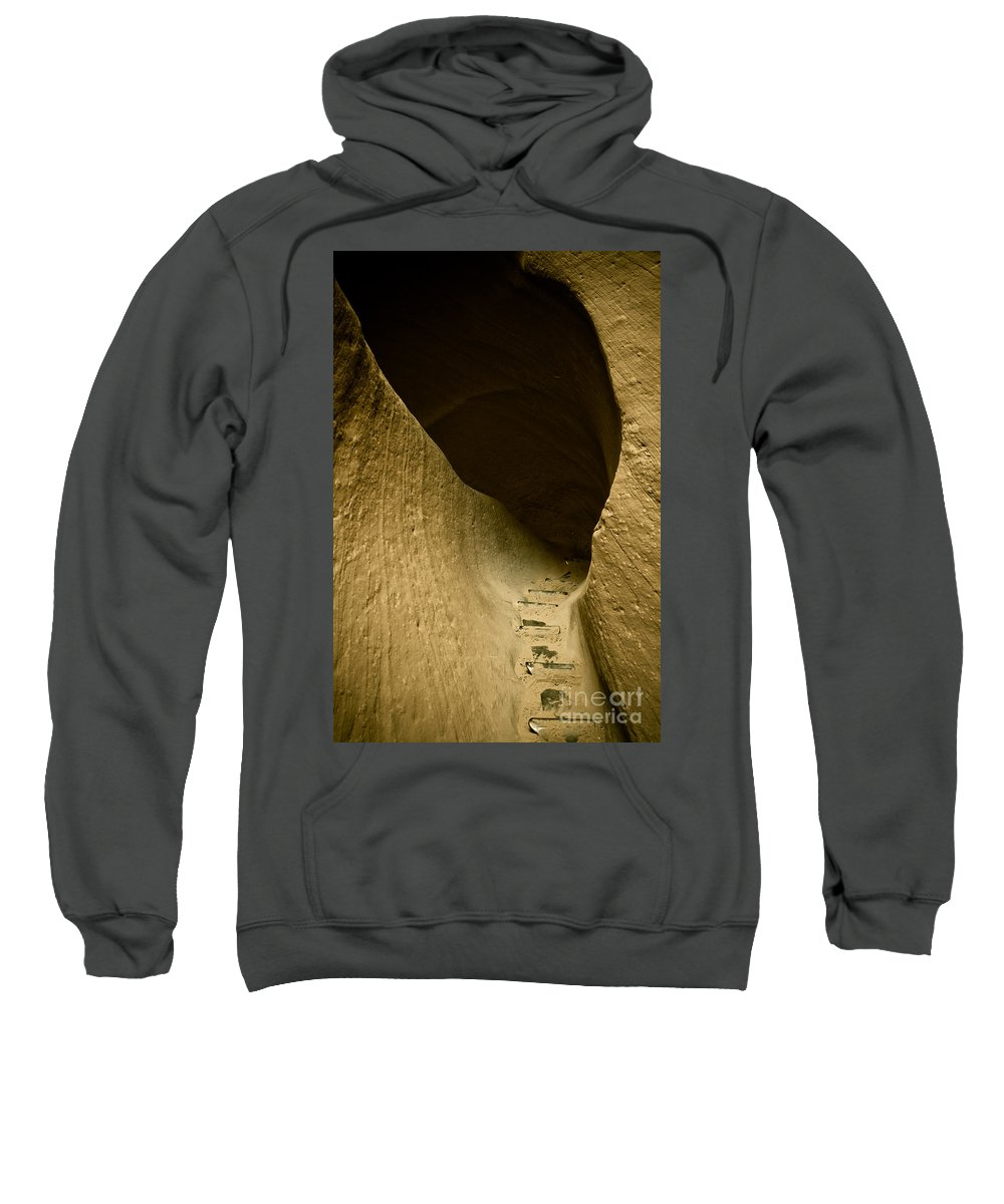 Photograph Sweatshirt featuring the photograph Canyon Steps by Scott Sawyer
