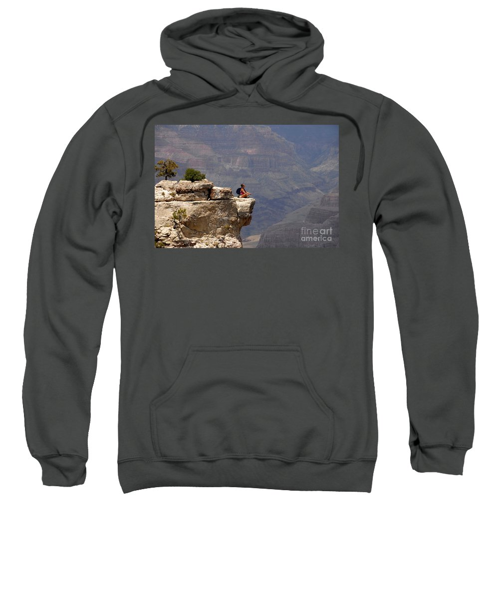 Grand Canyon National Park Arizona Sweatshirt featuring the photograph Canyon Thoughts by David Lee Thompson
