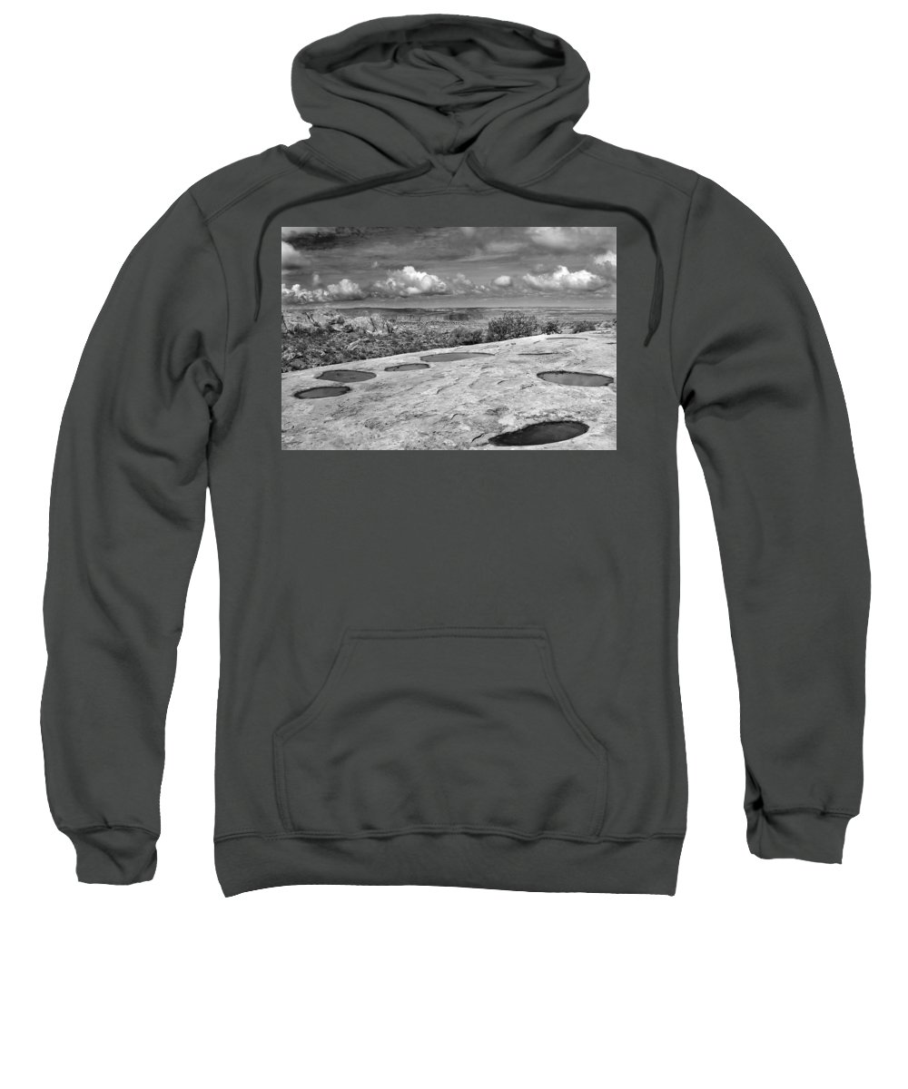 Americana Sweatshirt featuring the photograph Canyonlands Puddles by Marilyn Hunt