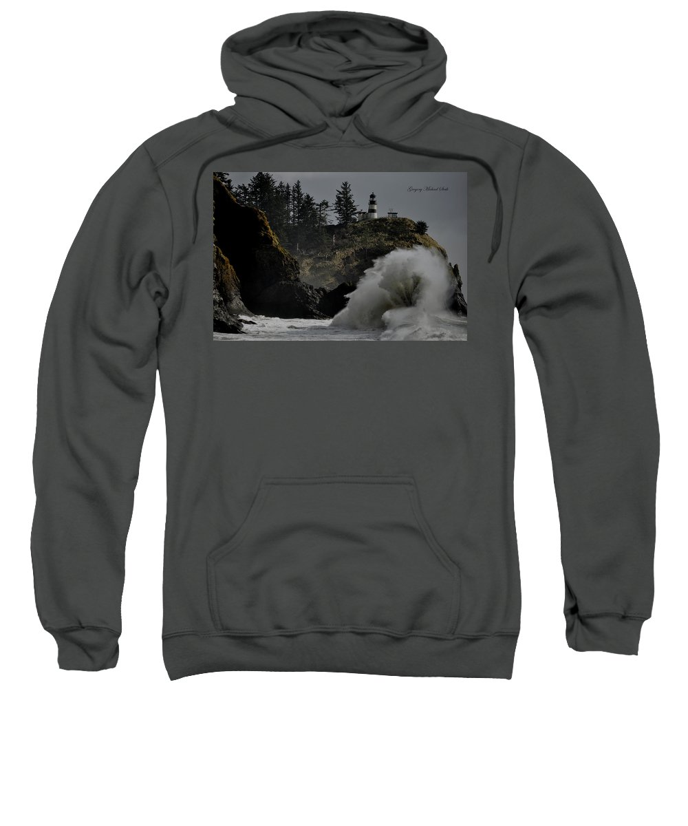 Cape Disappointment Sweatshirt featuring the photograph Cape Disappointment Finale by Safe Haven Photography Northwest
