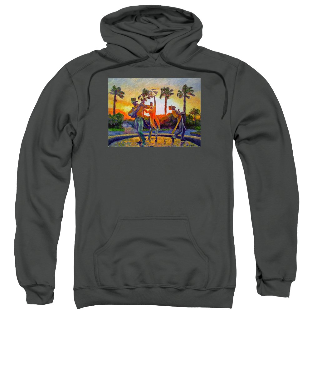 Sunset Sweatshirt featuring the painting Cape Minstrels by Michael Durst