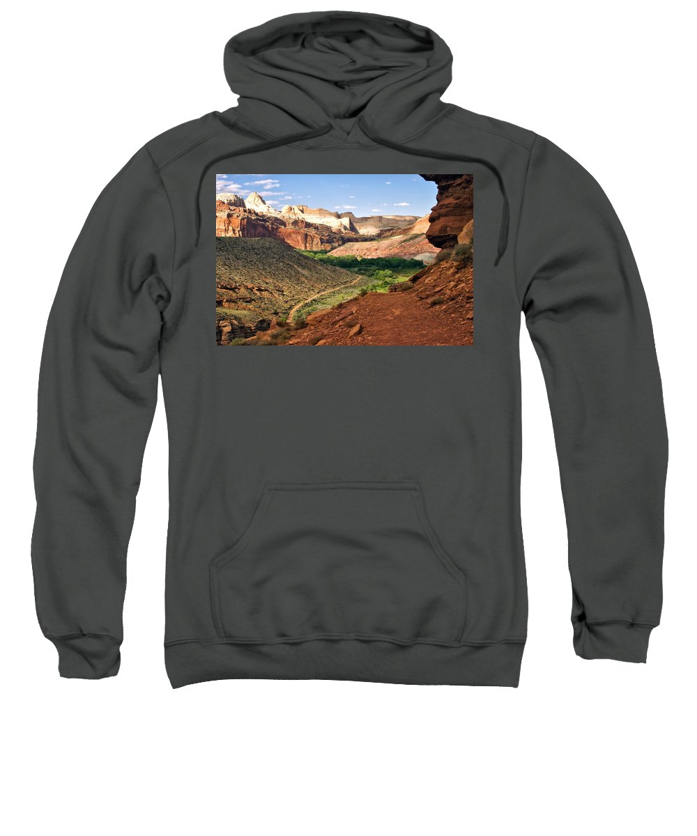 Utah Sweatshirt featuring the photograph Capitol Reef 8 by Ingrid Smith-Johnsen