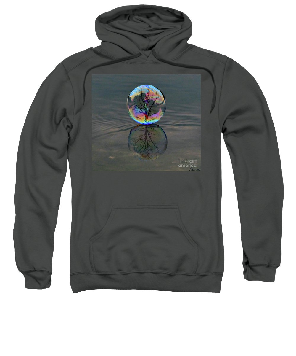 Bubble Sweatshirt featuring the photograph Captured by September Stone