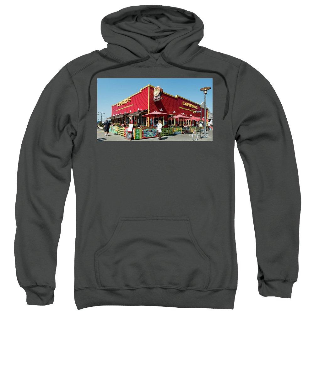 San Francisco Sweatshirt featuring the photograph Capurro's Restaurant At Fisherman's Wharf San Francisco, California by David Oppenheimer
