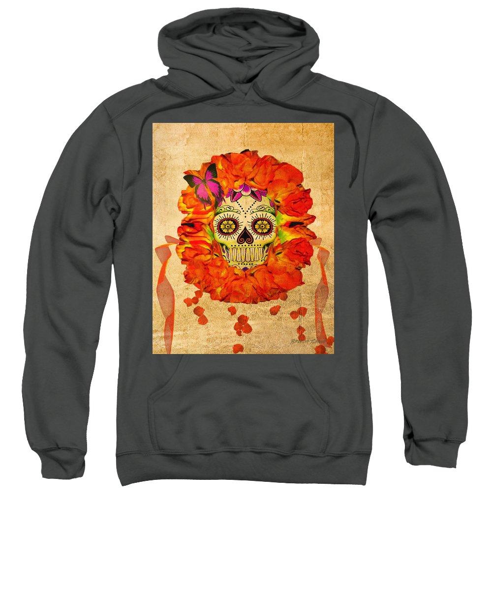 Cara De La Flor Sweatshirt featuring the digital art Cara De La Flor by Brenda Turner