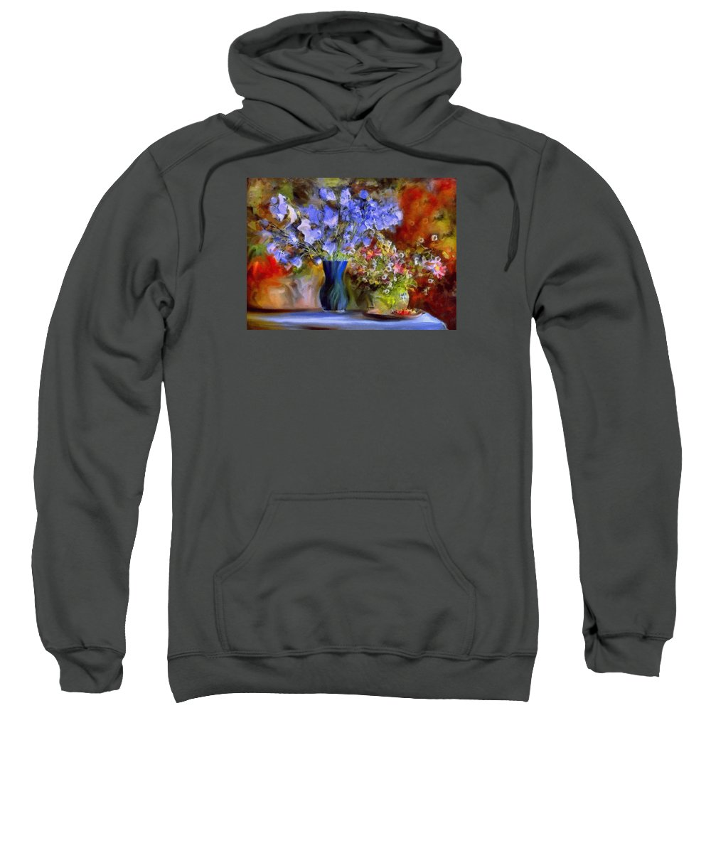 Still Life Sweatshirt featuring the painting Caress Of Spring - Impressionism by Georgiana Romanovna