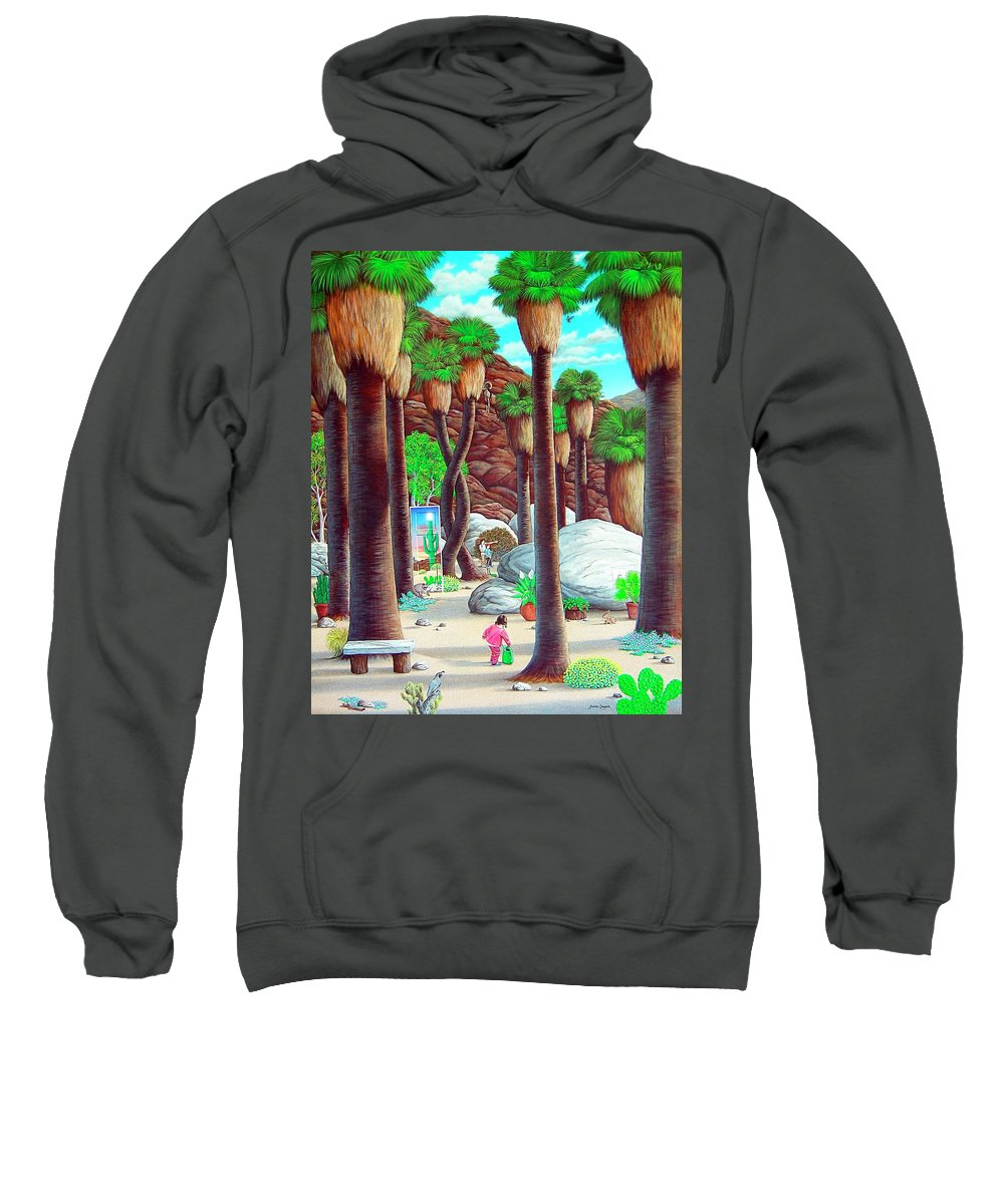 Canyon Sweatshirt featuring the painting Caretaker by Snake Jagger