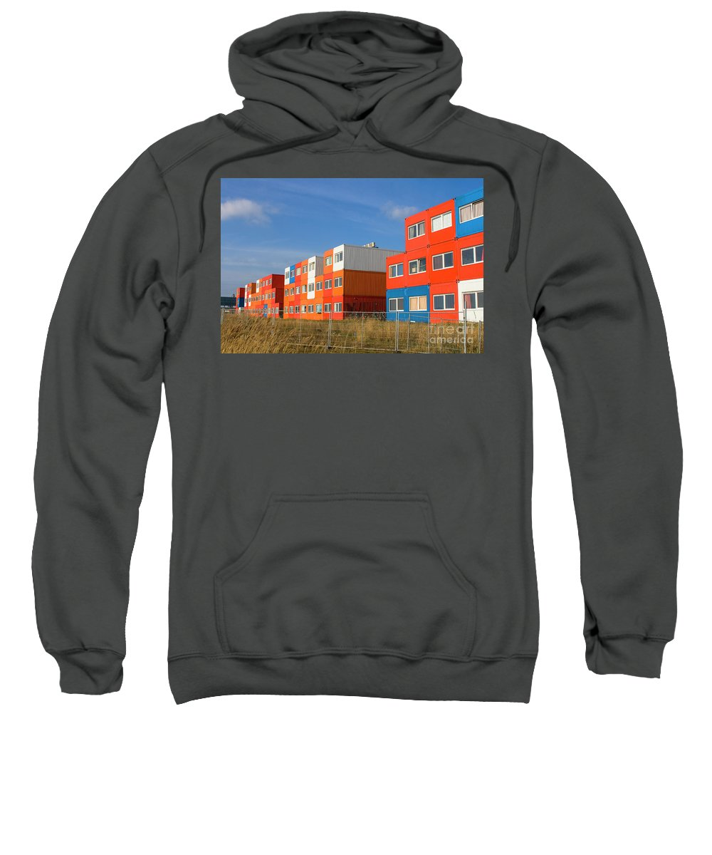 Cargo Container Sweatshirt featuring the photograph Cargo Homes by Patricia Hofmeester