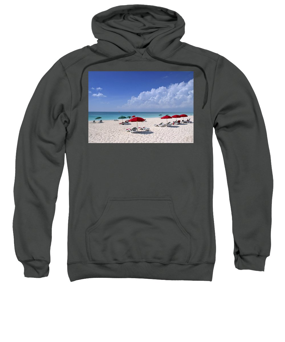Ocean Sweatshirt featuring the photograph Caribbean Blue by Stephen Anderson