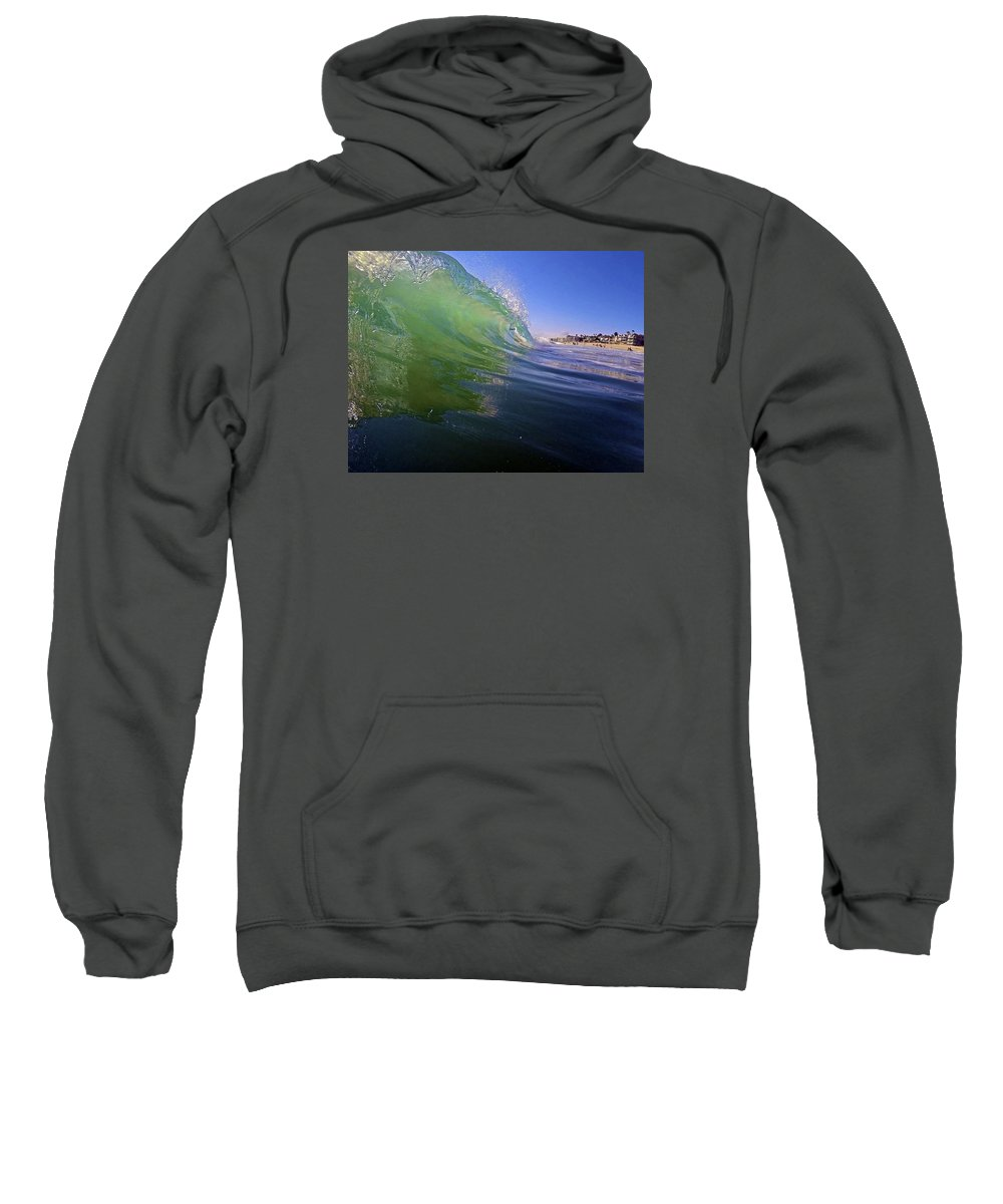 Wave Sweatshirt featuring the photograph Carlsbad Wave 4 by Michael Cappelli