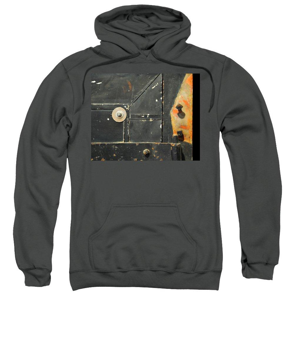 Firedoor Sweatshirt featuring the photograph Carlton 10 - Firedoor Detail by Tim Nyberg