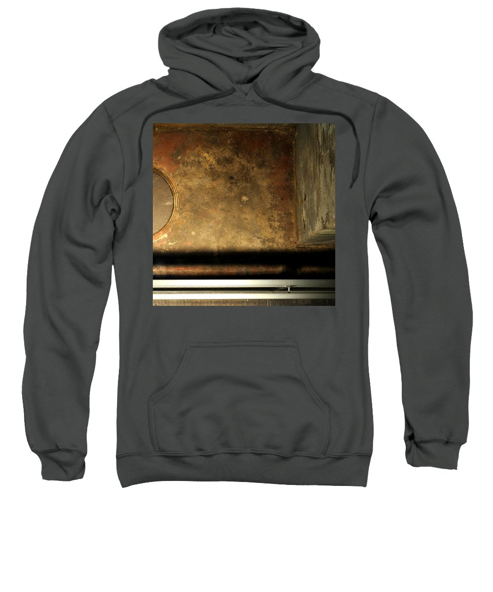 Manhole Sweatshirt featuring the photograph Carlton 13 - Abstract From The Bridge by Tim Nyberg
