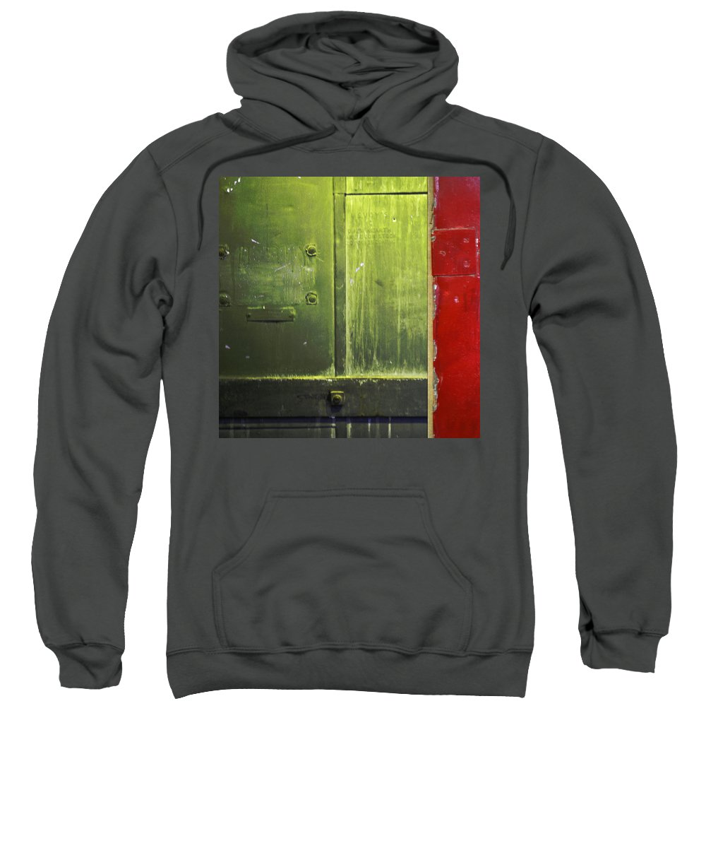 Metal Sweatshirt featuring the photograph Carlton 6 - Firedoor Abstract by Tim Nyberg