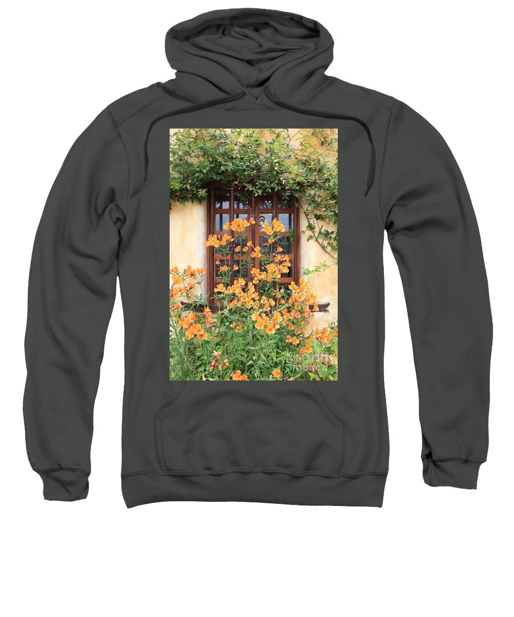 Alstroemeria Sweatshirt featuring the photograph Carmel Mission Window by Carol Groenen