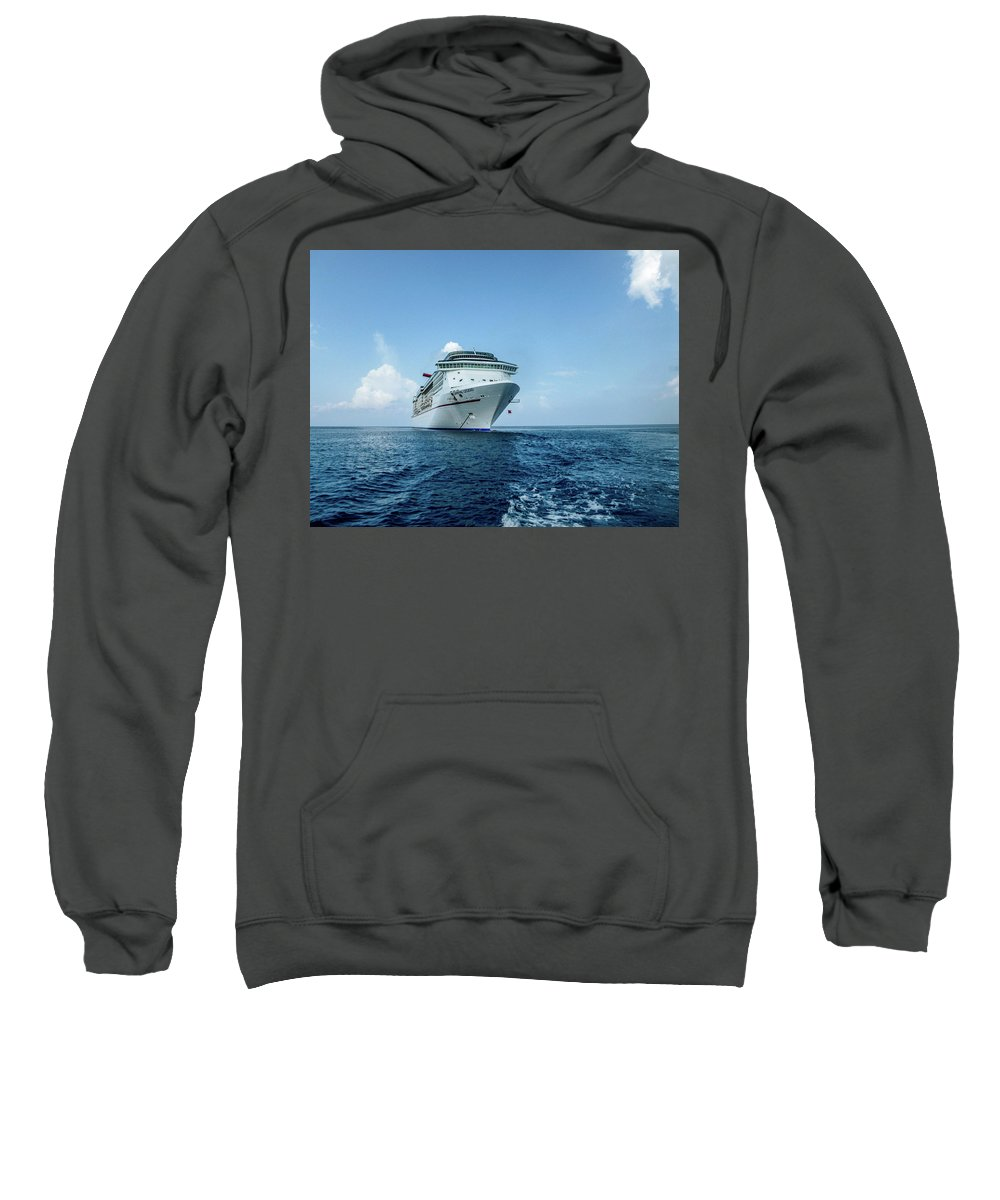 This Is A Photo Of The Carnival Legend Sweatshirt featuring the photograph Carnival Legend by William Rogers