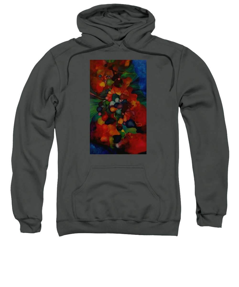 Abstract Sweatshirt featuring the painting Carnival by Peggy Guichu
