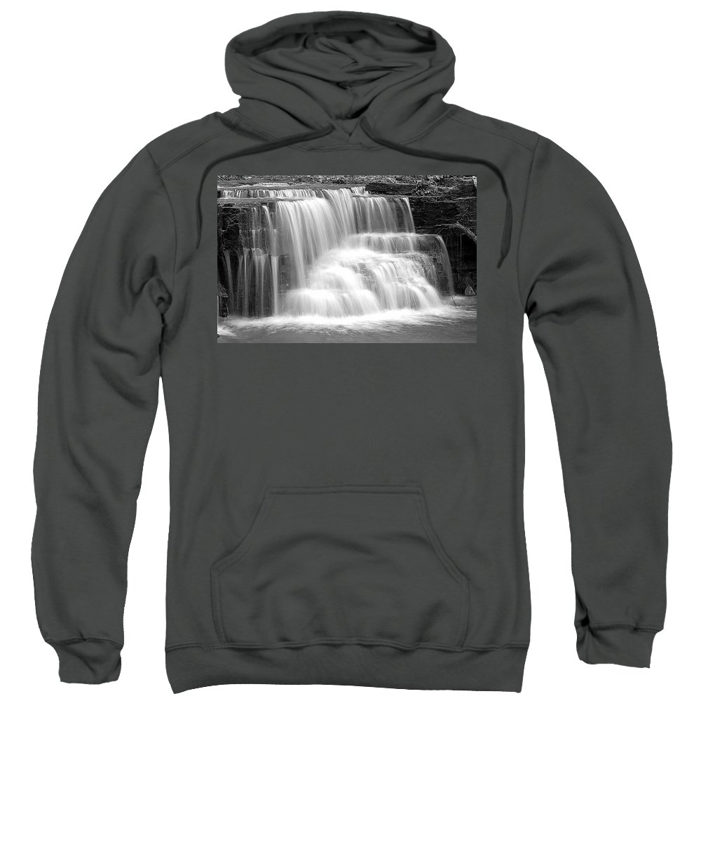 Caron Falls Sweatshirt featuring the photograph Caron Falls by Larry Ricker