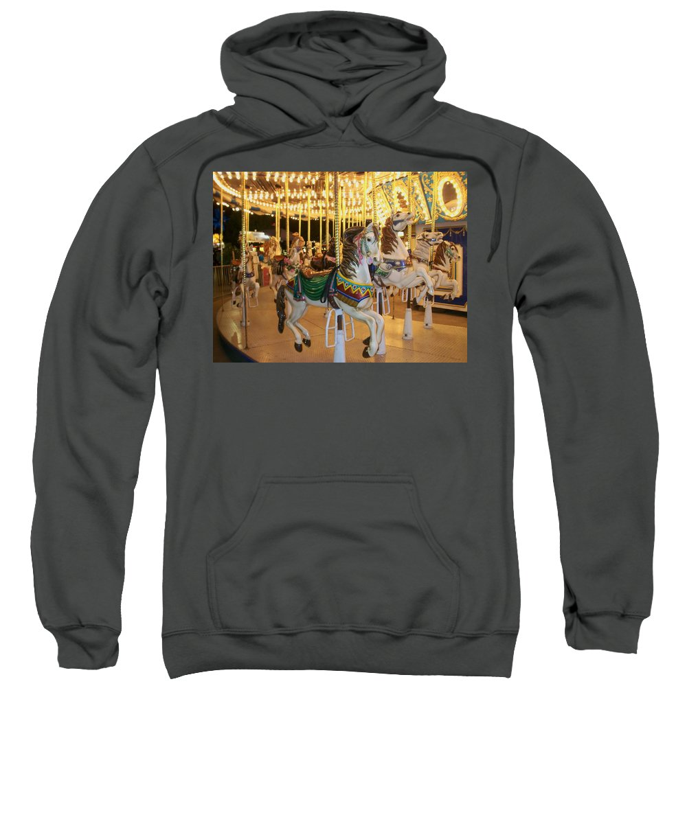Carousel Horse Sweatshirt featuring the photograph Carousel Horse 4 by Anita Burgermeister