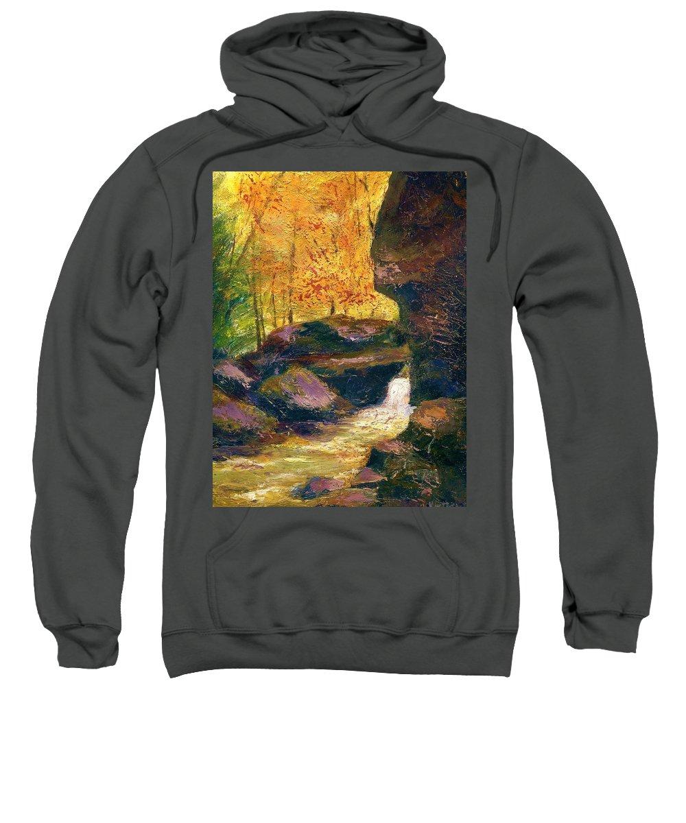 Kentucky Sweatshirt featuring the painting Carter Caves Kentucky by Gail Kirtz