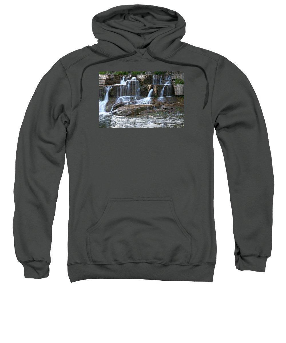 Falls Sweatshirt featuring the photograph Cascade by Robert Och