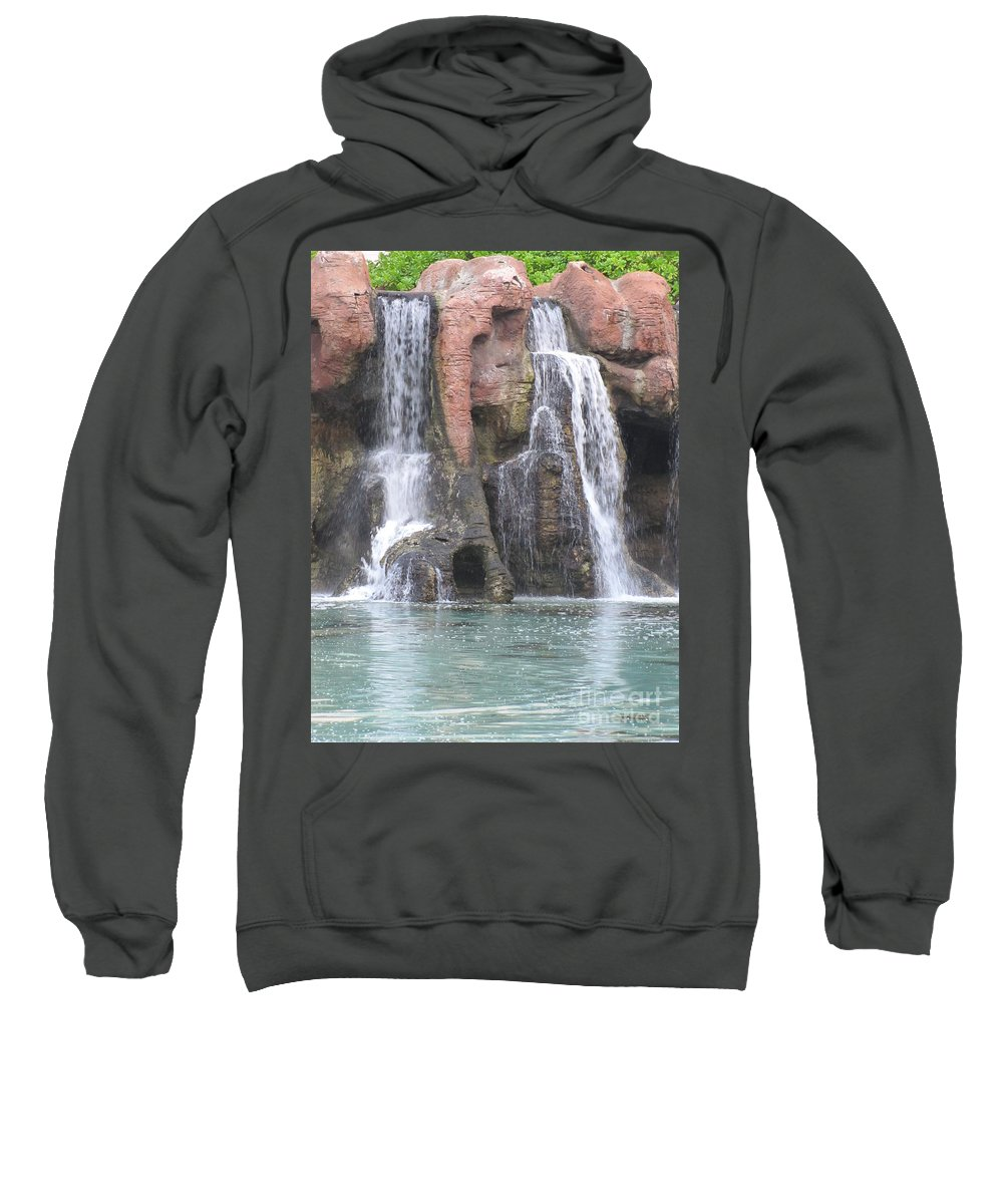 Waterfall Sweatshirt featuring the photograph Cascading Waterfall by Michelle Powell