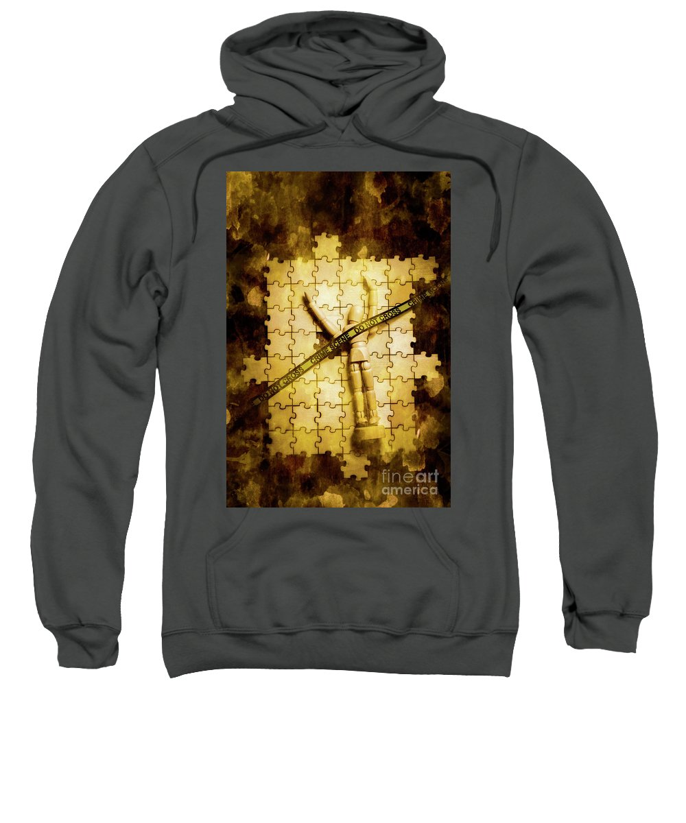 Csi Sweatshirt featuring the photograph Case Of A Unsolved Crime by Jorgo Photography - Wall Art Gallery