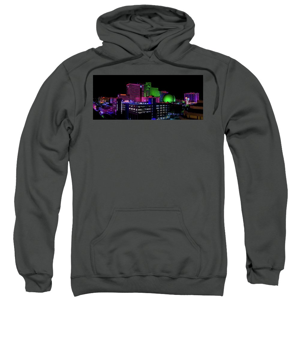 Mair's Photography Sweatshirt featuring the photograph Casinos by TL Mair
