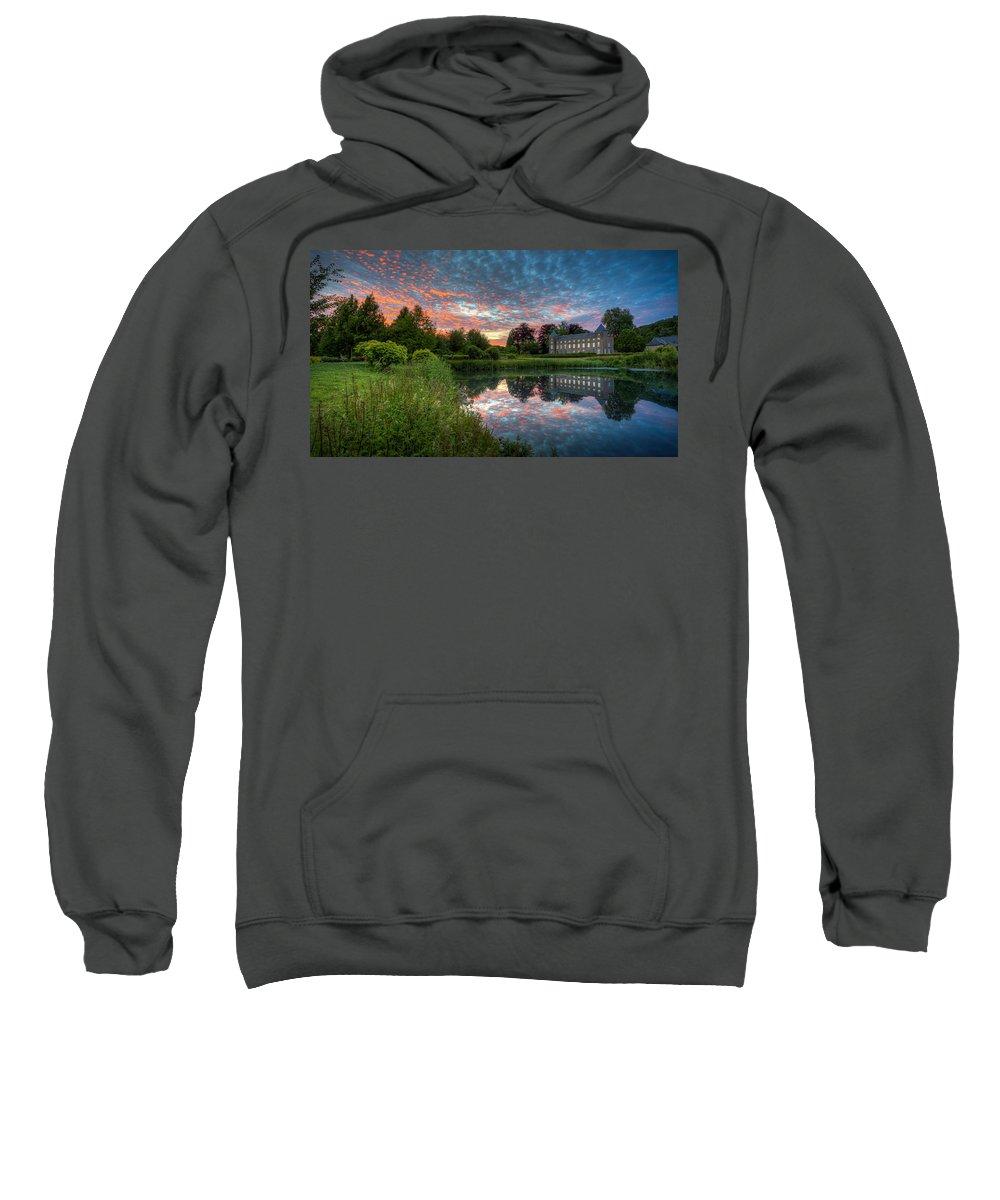 Castle Sweatshirt featuring the photograph Castle And Pond by Vincent Ferooz