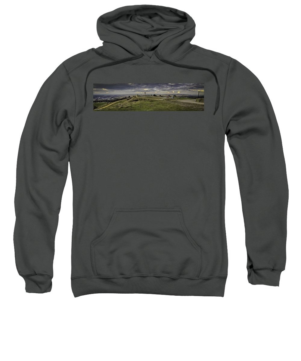 Victoria Tower Sweatshirt featuring the photograph Castle Hill Huddersfield Uk View 3 by Mike Walker