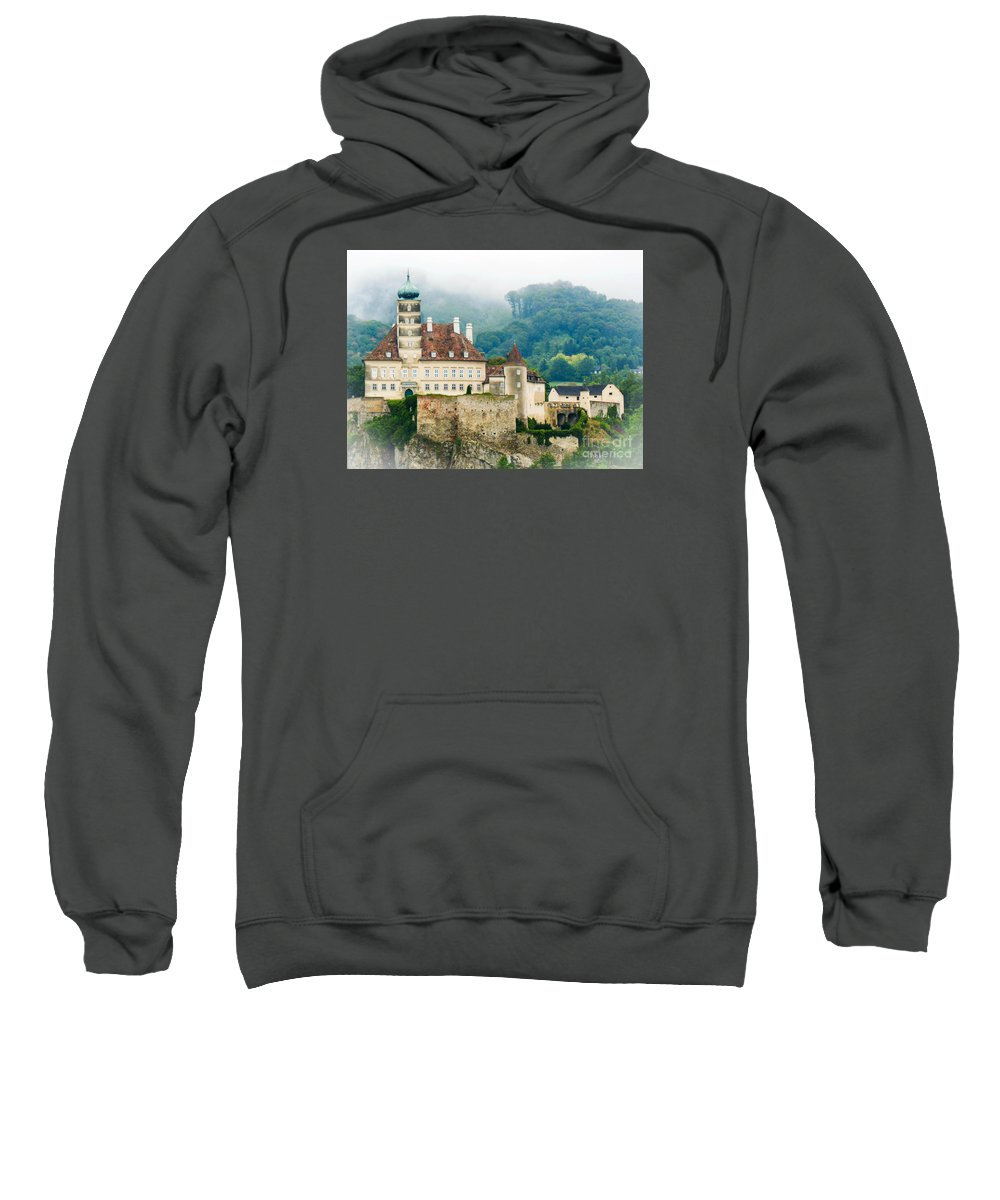 Mist Sweatshirt featuring the photograph Castle In The Mist by Lisa Kilby