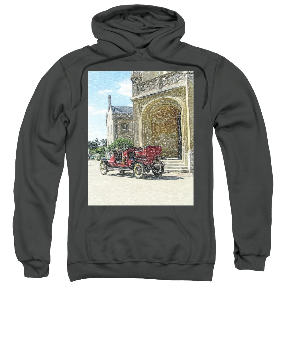 Automobile Sweatshirt featuring the photograph Castle Renault by Alan Olmstead