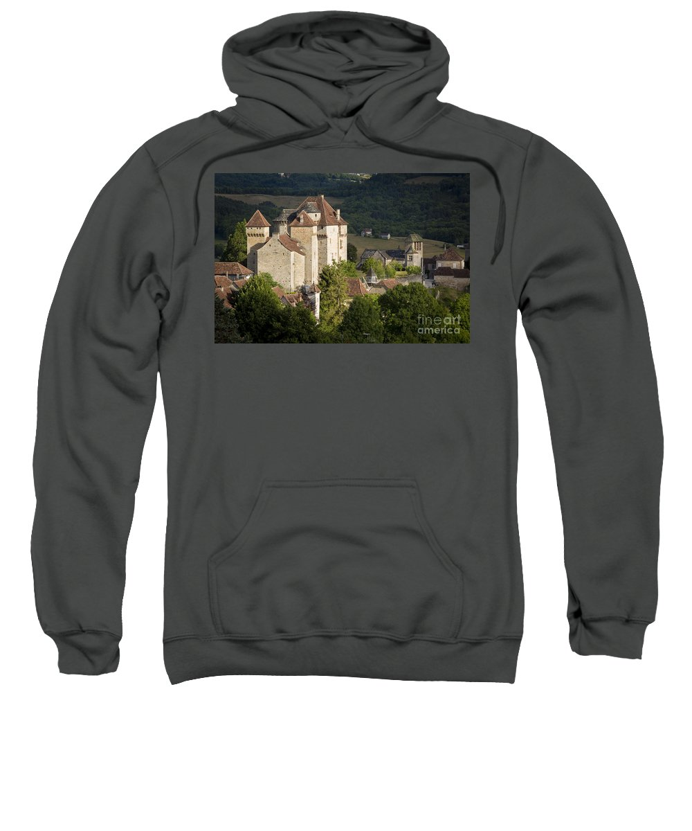 Castle Sweatshirt featuring the photograph Castles Of Curemonte by Brian Jannsen