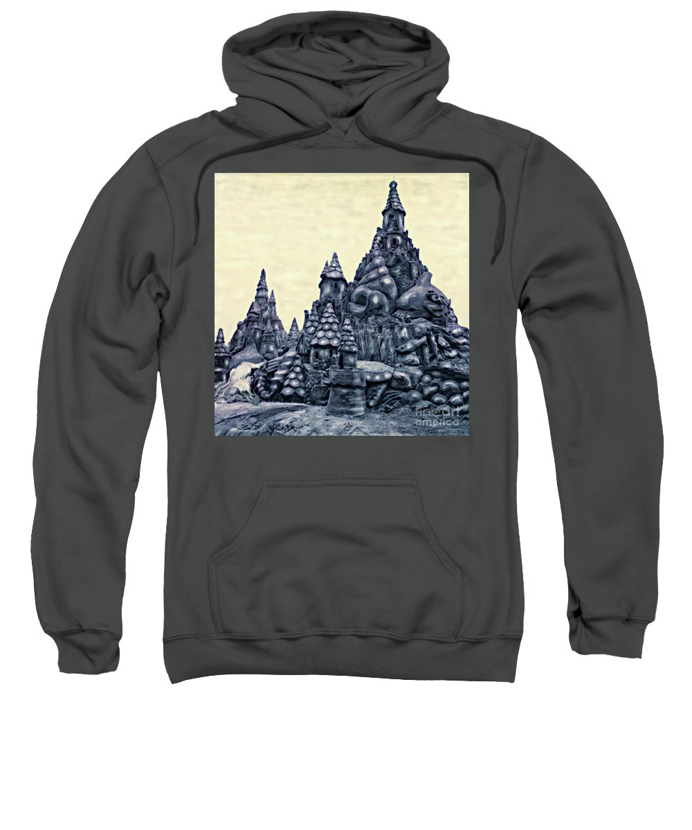 Sandcastles Sweatshirt featuring the photograph Castles On The Beach by Keith Dillon