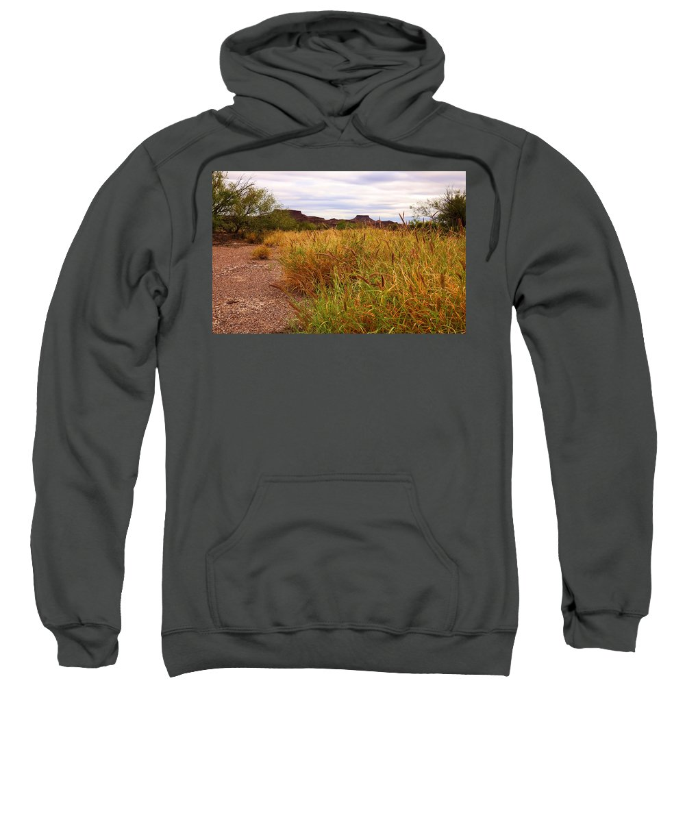 Castolon Sweatshirt featuring the photograph Castolon - A Ghost Town 3 by Judy Vincent
