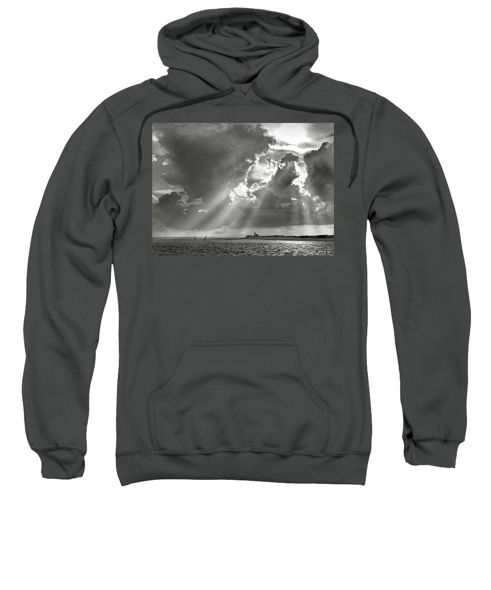 Catboats Sweatshirt featuring the photograph Catboats Sailing In Barnstable Harbor by Charles Harden
