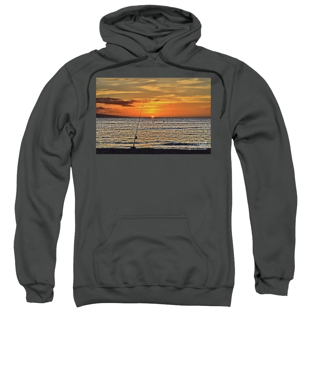 Sunset Sweatshirt featuring the photograph Catch Of The Day by DJ Florek