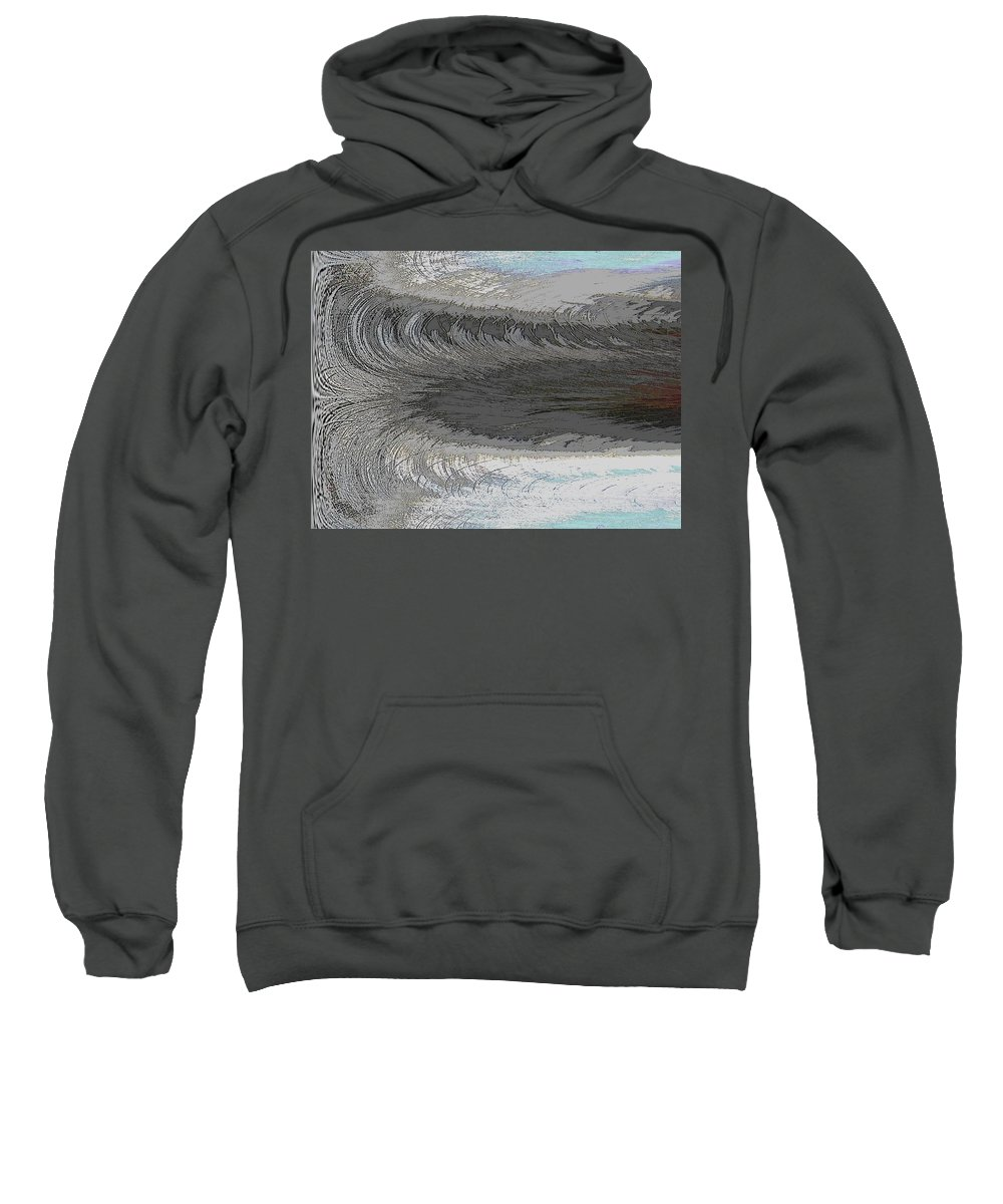 Abstract Sweatshirt featuring the digital art Catch The Wave by Tim Allen