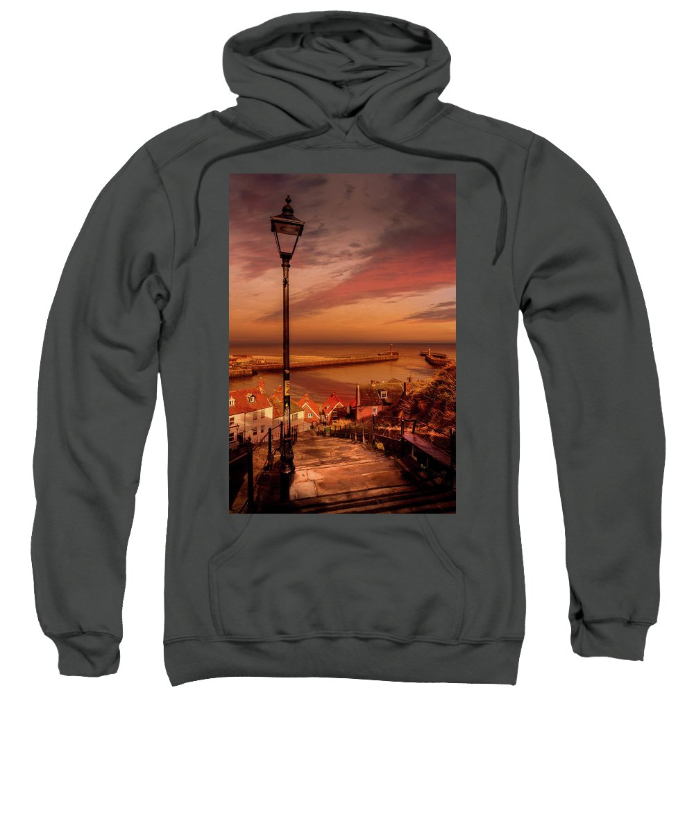 Whitby Sweatshirt featuring the photograph Catch You Breath by Richard Sayer