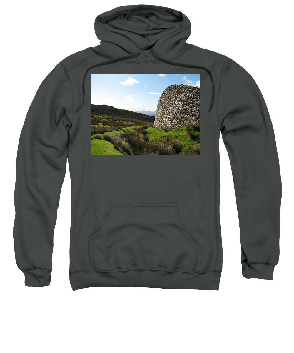 Fort Sweatshirt featuring the photograph Cathair Na Steige by Kelly Mezzapelle