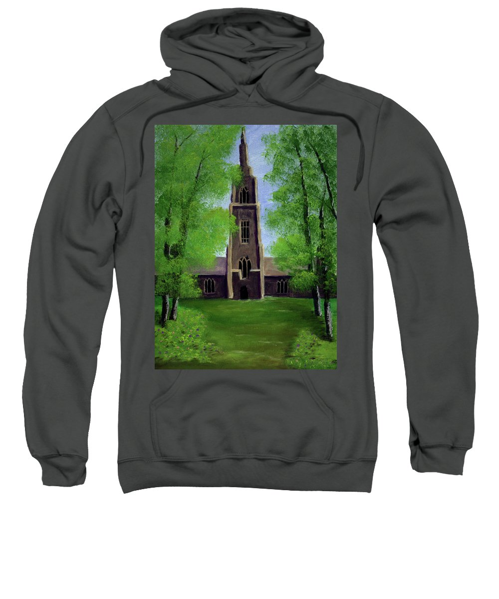 Cathedral Sweatshirt featuring the painting Cathedral by Dawn Blair
