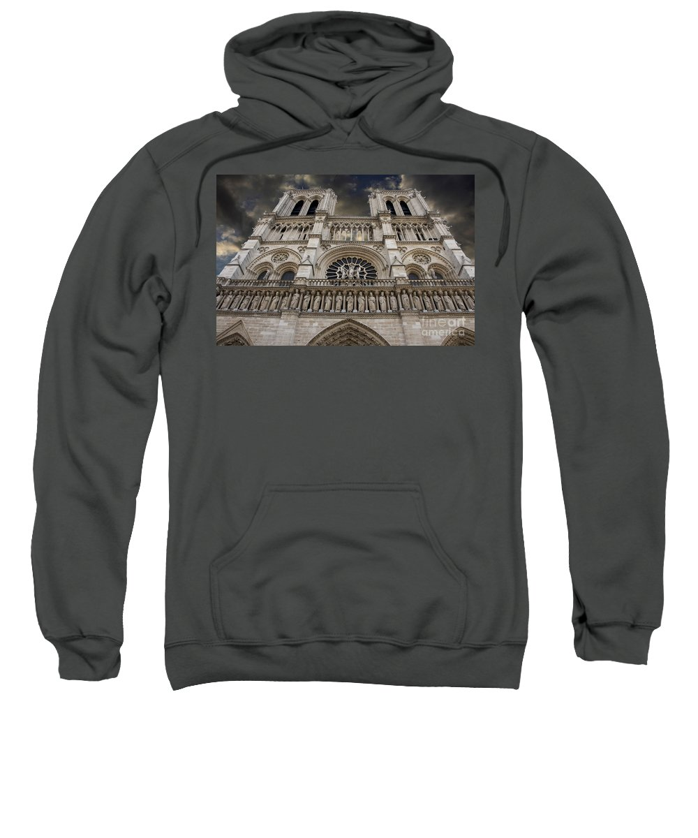 Architecture Sweatshirt featuring the photograph Cathedral Notre Dame Of Paris. France  by Bernard Jaubert