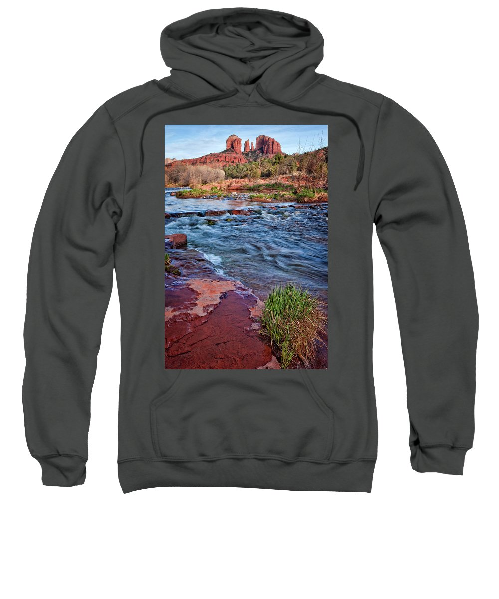 Sedona Sweatshirt featuring the photograph Cathedral Rock  by Diana Powell