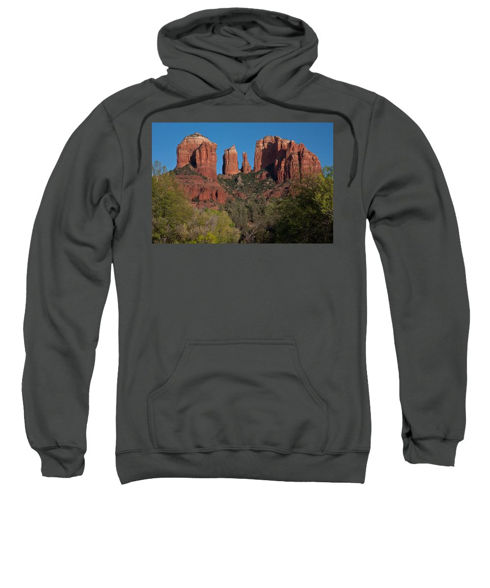 Sedona Sweatshirt featuring the photograph Cathedral Rock by Suzanne Stout