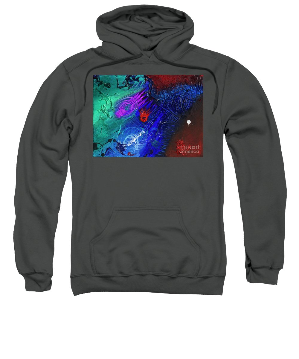 Sweatshirt featuring the painting Causa Sui by Pink Plumbus