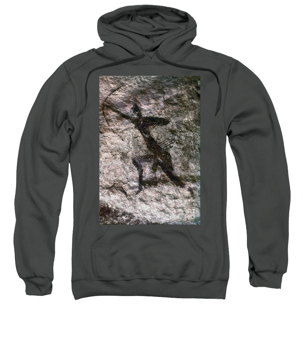 African Sweatshirt featuring the photograph Cave Art, Algeria by Granger
